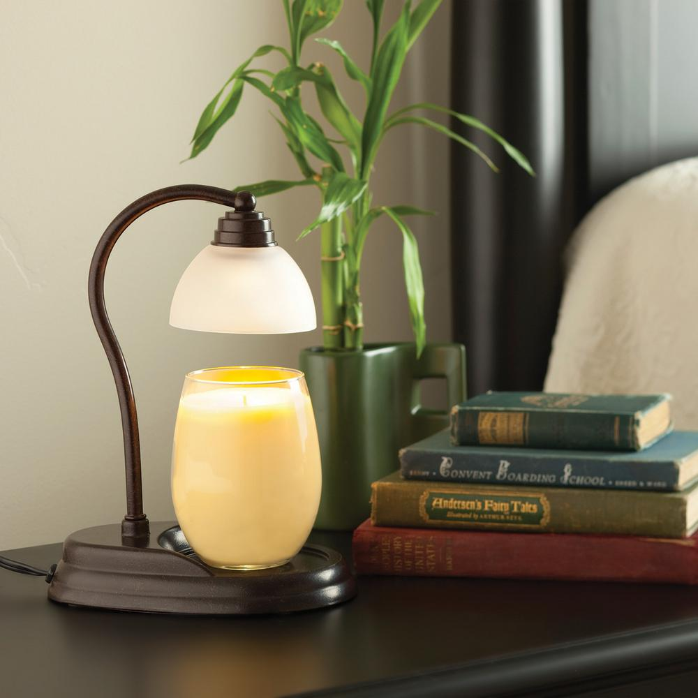 11 in. Bronze Aurora Candle Warmer Lamp