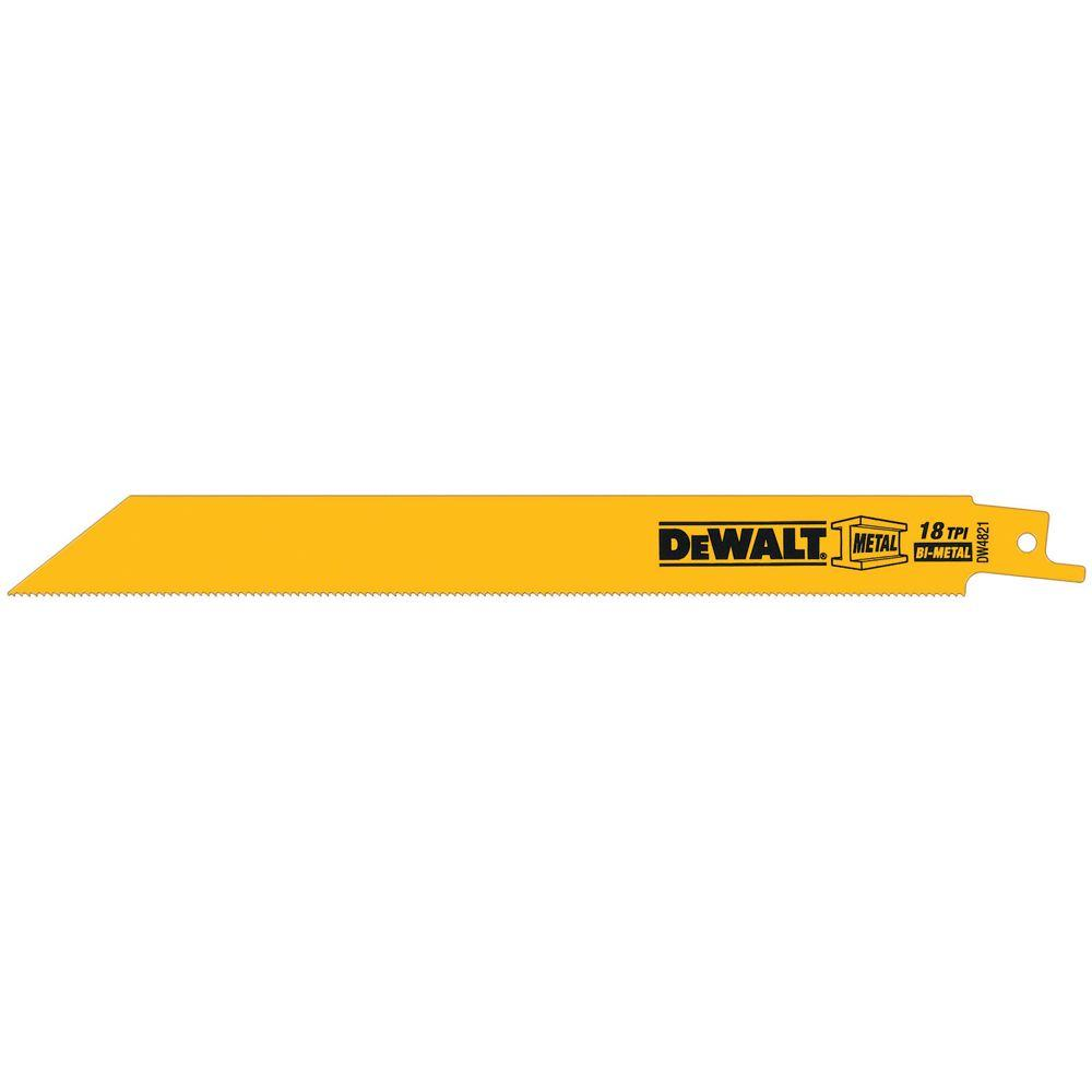 DEWALT 8 in. 18 Teeth per in. Demolition Reciprocating Saw Blade (5-Pack)