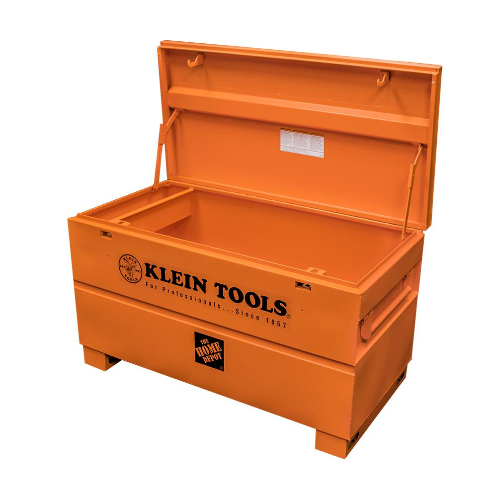 93bf05879b8 Klein Tools 48 in. Steel Tool Job Site Box-54605 - The Home Depot
