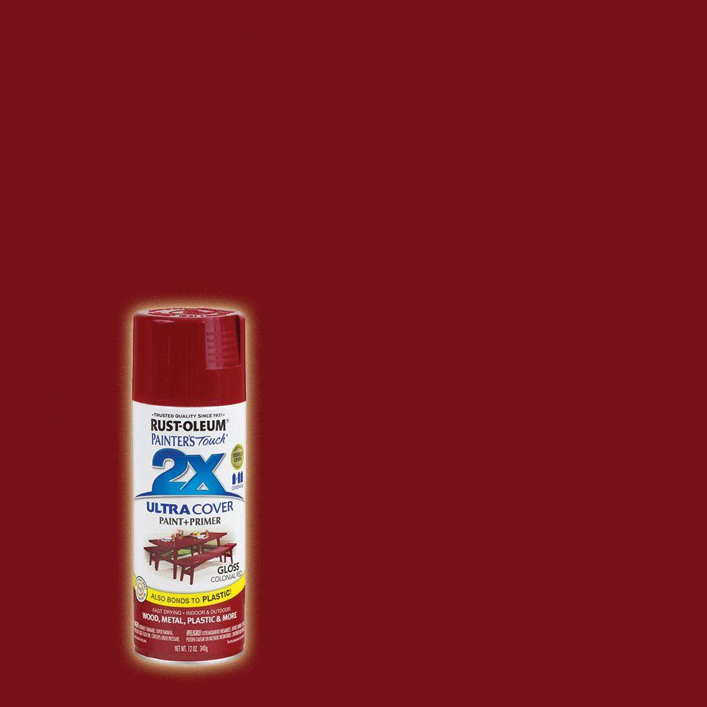 Rust-Oleum Painter's Touch 2X 12 oz. Gloss Colonial Red General Purpose Spray Paint