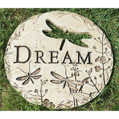 12 in. Dragonfly Cut-Out Dream Decorative Garden Patio Stepping Stone