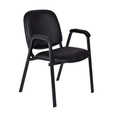 Ace Black Vinyl Stack Chairs (Set of 18)