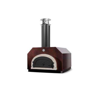 CBO-500 32-1/2 in. x 34-1/4 in. Counter Top Wood Burning Pizza Oven in Copper