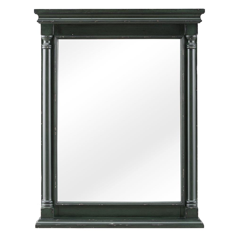 Home Decorators Collection Greenbrook 25 in. W x 32 in. H Framed Wall Mirror in Vintage Forest Green, Vintage Antique Green was $229.0 now $68.7 (70.0% off)
