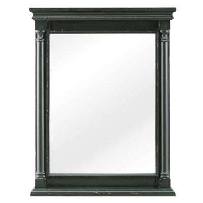 Greenbrook 25 in. W x 32 in. H Framed Wall Mirror in Vintage Forest Green