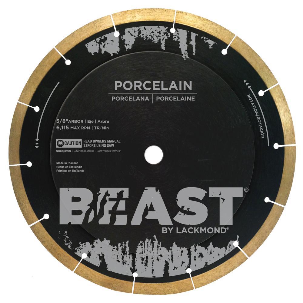 Beast 12 in. Reinforced Hub Hard Porcelain Blade 0.063 in...