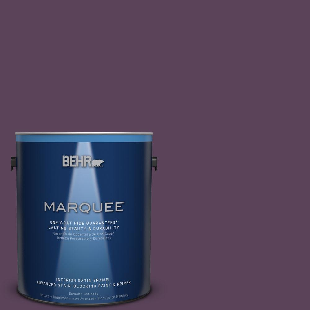 1 gal. #T11-3 Strike a Pose Satin Enamel Interior Paint