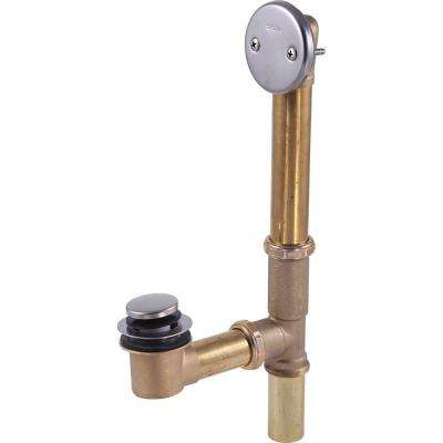 1-1/4 in. Brass Bath Waste Assembly in Stainless-Steel