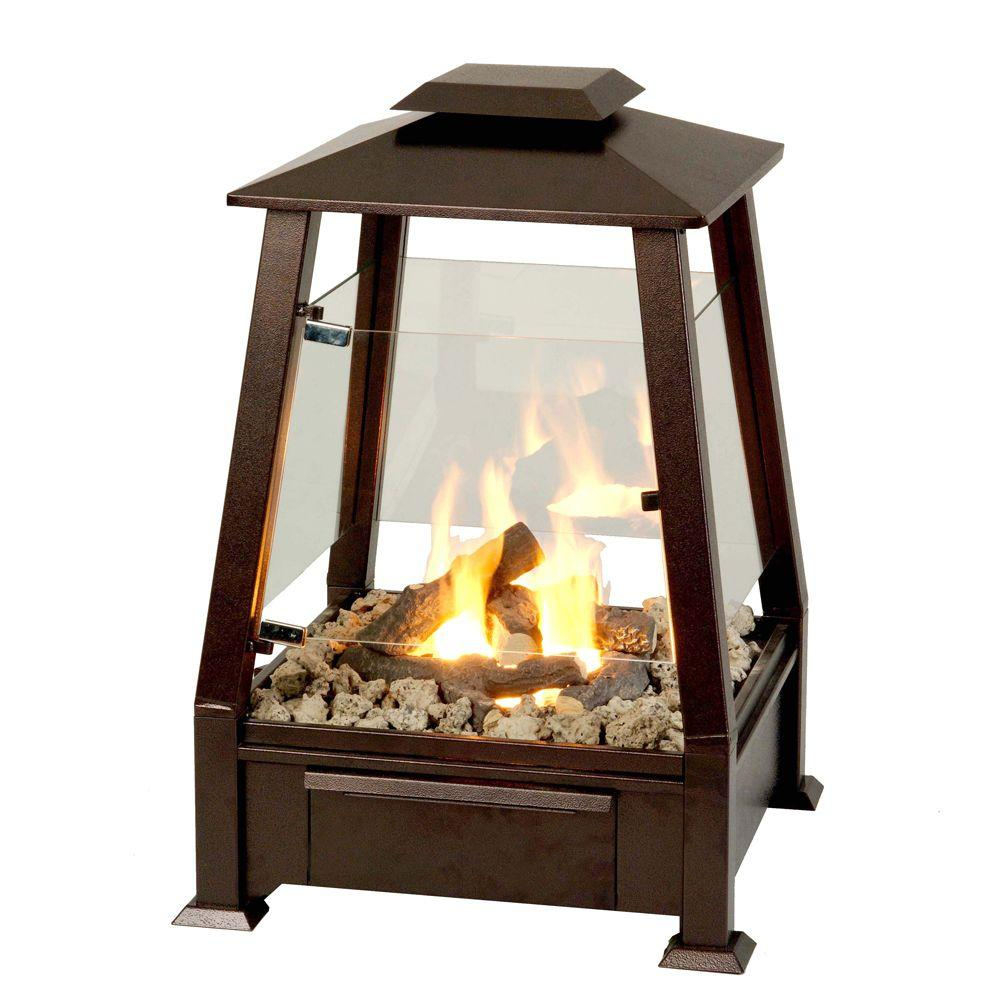 Real Flame 20 in. Sierra Outdoor Fireplace in Copper-DISCONTINUED
