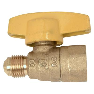 3/8 in. O.D. Flare x 1/2 in. FIP Gas Ball Valve