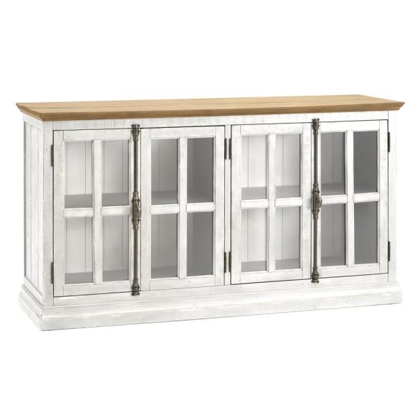 RST Brands Loupin White Solid Wood Console IP-RECGLDR-CON-WHT
