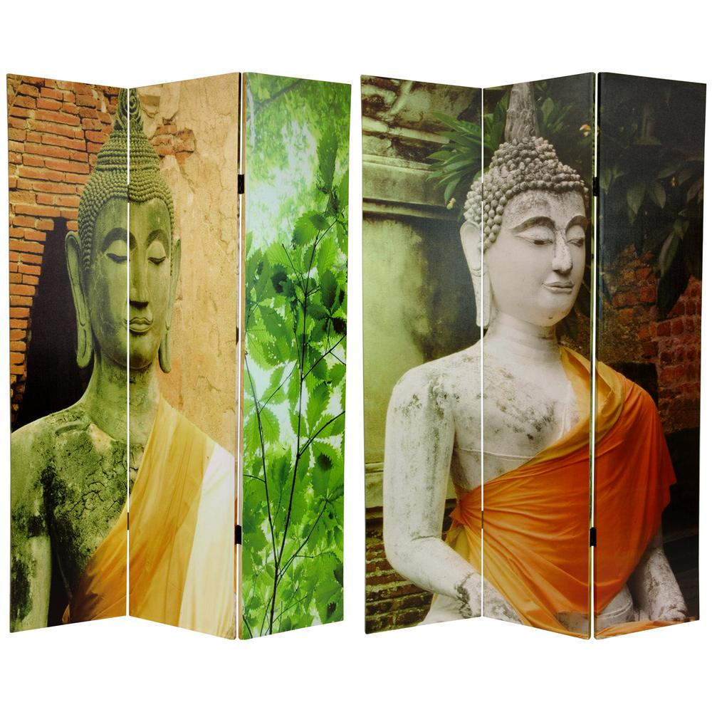 6 ft Printed 3 Panel Buddha Room Divider CV BUD1 The Home Depot