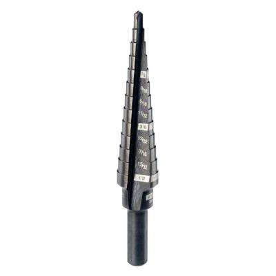 #1 1/8 in. - 1/2 in. x 1/32 in. Black Oxide Step Drill Bit