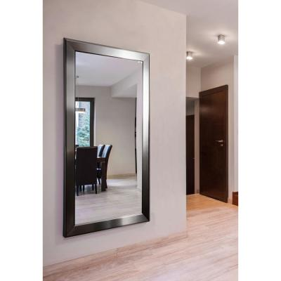Oversized Rectangle Silver Modern Mirror (70.5 in. H x 37.5 in. W)