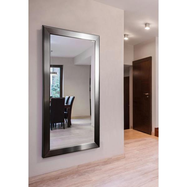 Oversized Rectangle Silver Modern Mirror (76.5 in. H x 37.5 in. W)