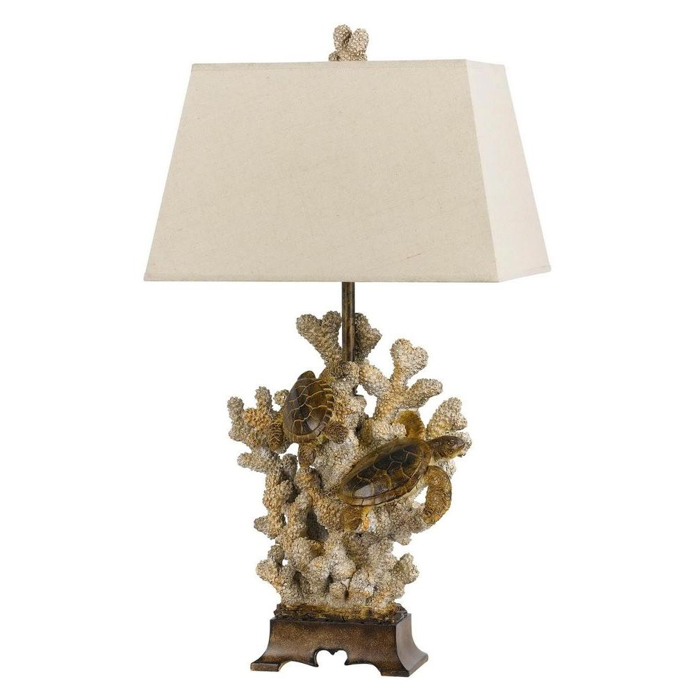 Sand Stone Coral Table Lamp BO 2476TB   The Home Depot