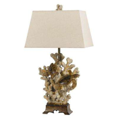 29 in. Sand Stone Coral Table Lamp