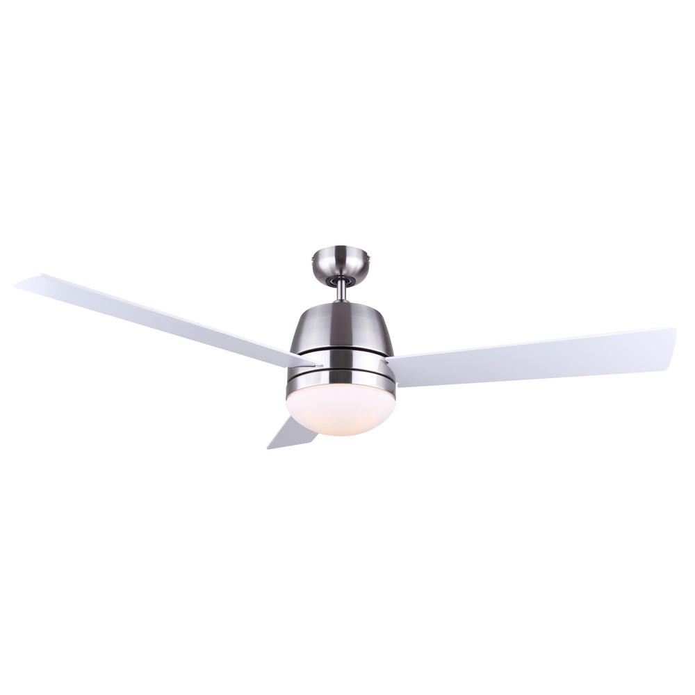 CANARM Dafni 50.5 in. Indoor Brushed Nickel Dual Mount Ceiling Fan with Light Kit and Remote Control