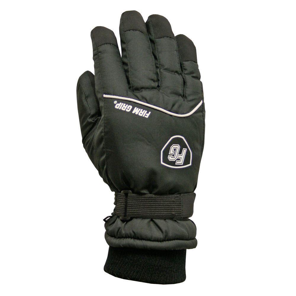 Medium Winter Polyester Black Ski Gloves