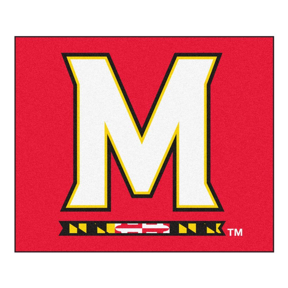 FANMATS NCAA -University of Maryland Red 6 ft. x 5 ft. Indoor/Outdoor Tailgater Area Rug