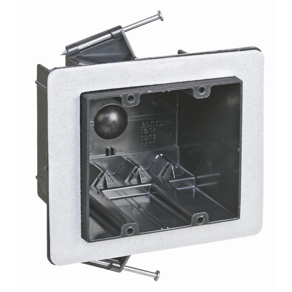 2-Gang 36 cu. in. Non-Metallic Vapor Tight Wall Box (Case of 12)