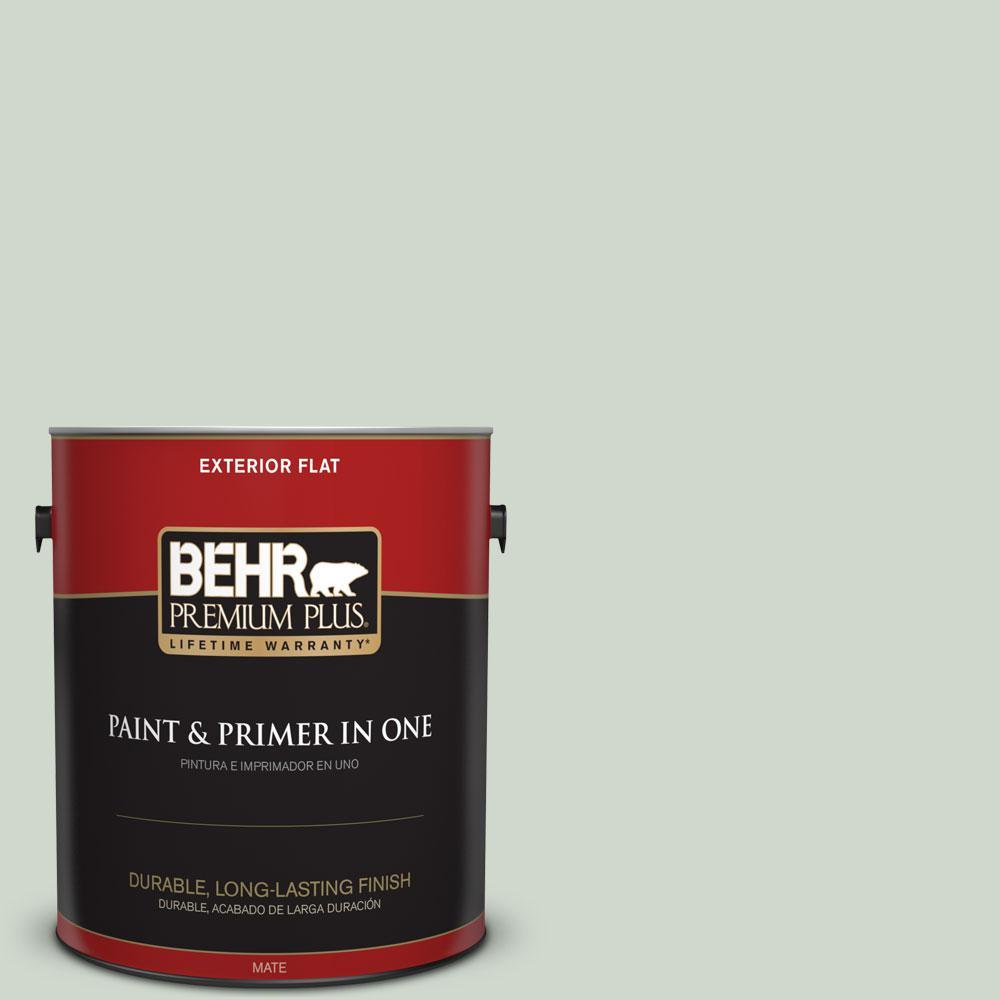 BEHR Premium Plus 1-gal. #ICC-48 Aspen Mist Flat Exterior Paint