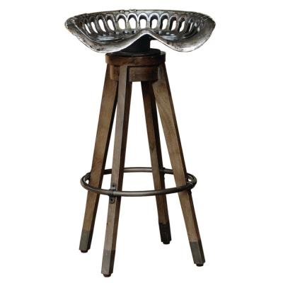 Antique 32.5 in. Swivel Tractor Seat Barstool