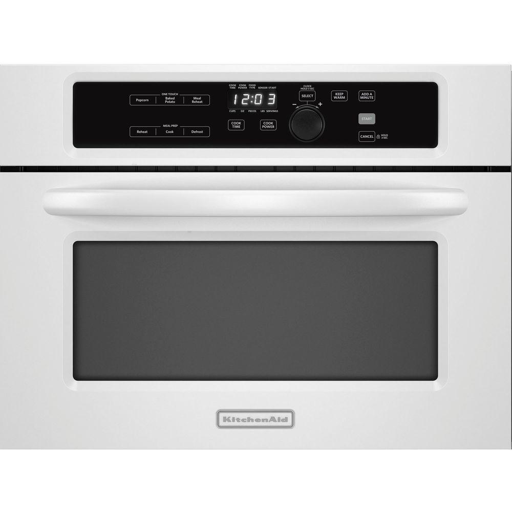 KitchenAid Architect Series II 1.4 cu. ft. Built-In Microwave in White with Sensor Cooking