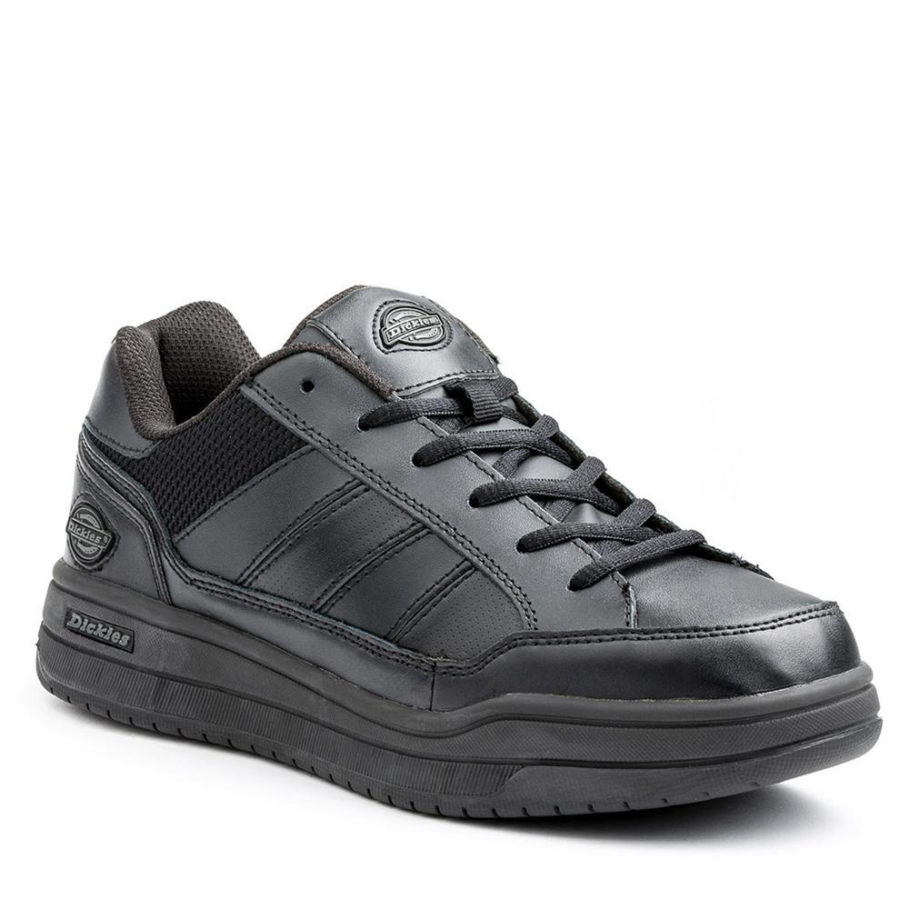 Athletic Skate Men Size 10 Black Slip Resistant Safety Work Shoe