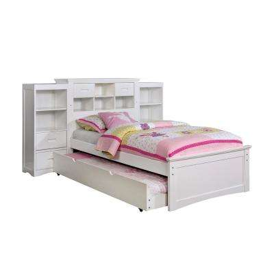 Pearland Twin Bed in White Finish