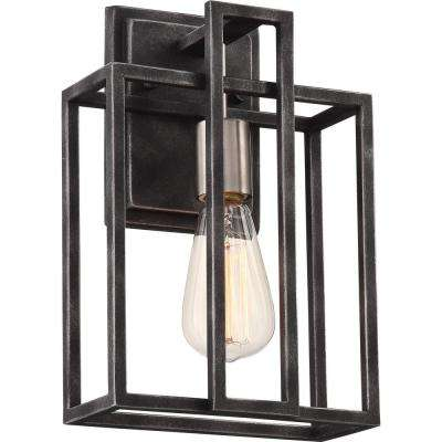 1-Light Iron Black Bath Light