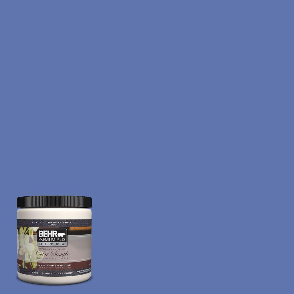 8 oz. #600B-6 Sudden Sapphire Interior/Exterior Paint Sample