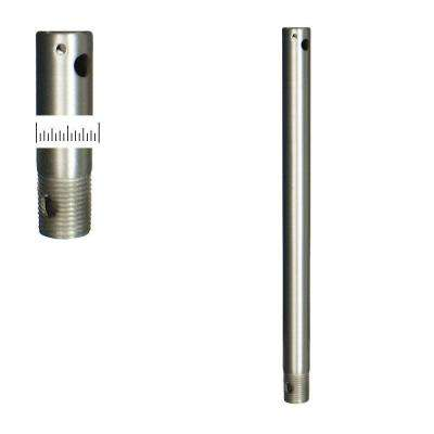 1/2 Dia 12 in. Satin Steel Extension Downrod