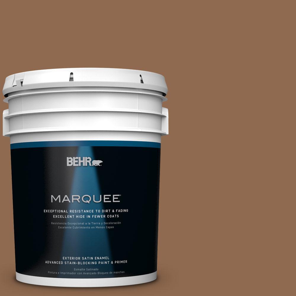 BEHR MARQUEE 5-gal. #PPU4-1 Caramel Swirl Satin Enamel Exterior Paint
