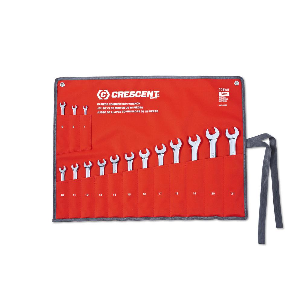 Crescent 12 Point Metric Combination Wrench Set with Tool Roll (15-Piece) was $88.97 now $59.97 (33.0% off)