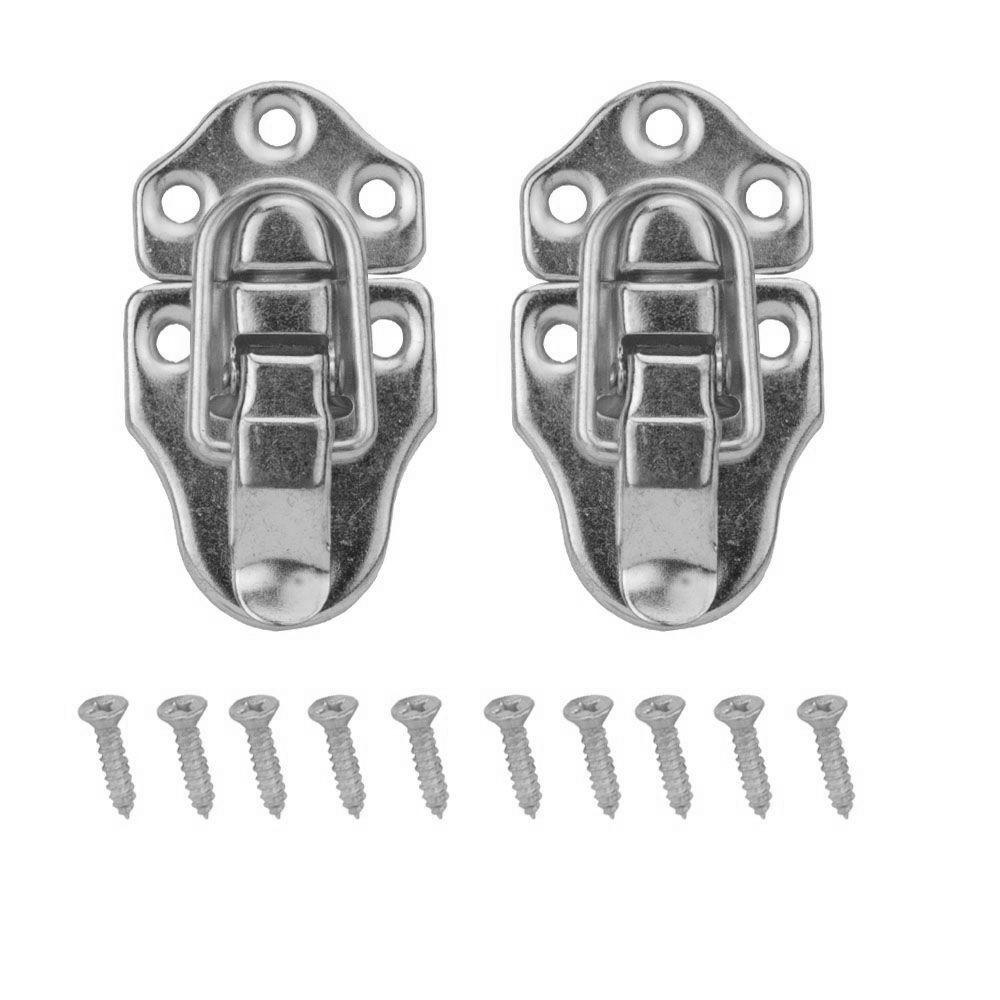 Everbilt 2-3/4 in. x 1-1/2 in. Satin Nickel Chest Latches