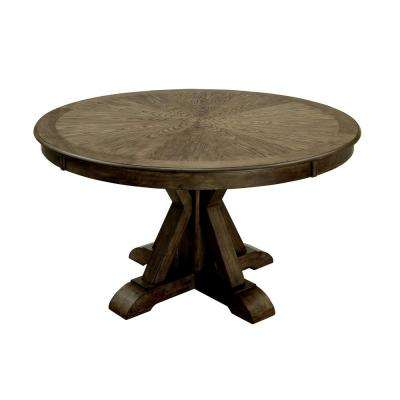 Julia Light Oak Transitional Style Round Dining Table