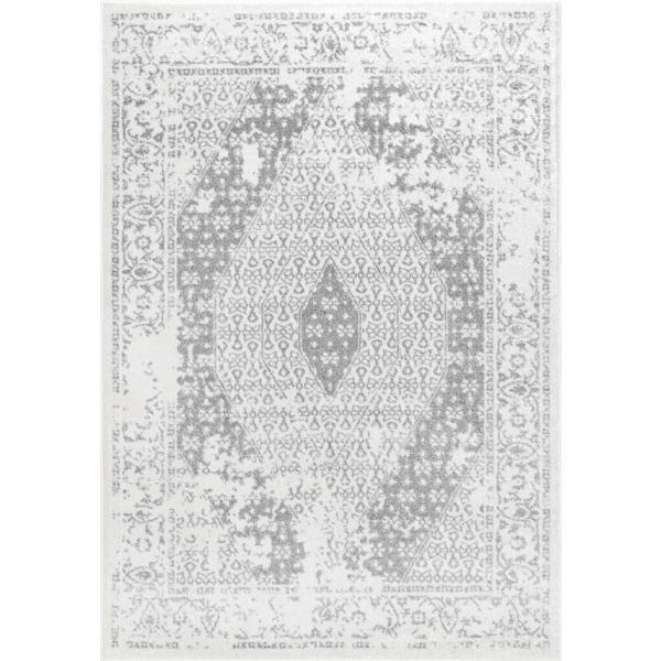 Magee Medallion Gray 8 ft. x 10 ft. Area Rug