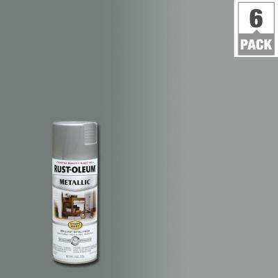 11 oz. Matte Nickel Protective Enamel Metallic Spray Paint (6-Pack)