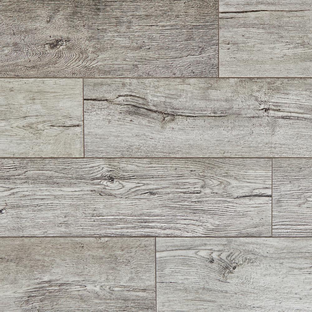 Take Home Sample - Water Resistant EIR Silver Cliff Oak 12 mm Laminate Flooring - 5 in. x 7 in.