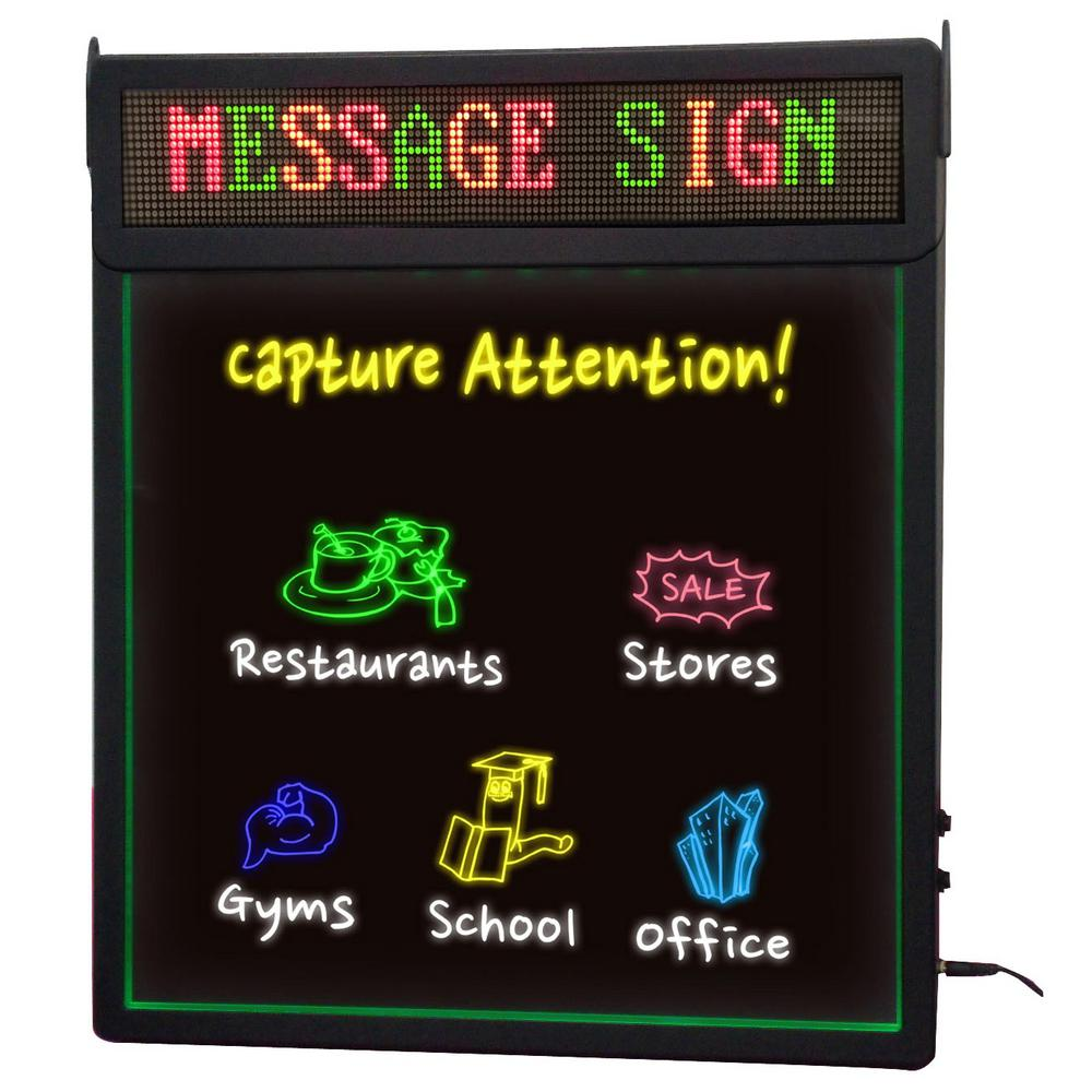 Royal Sovereign Rewritable Sign with LED Scrolling Messag...