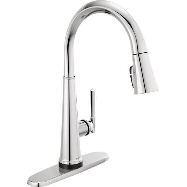 Emmeline Single-Handle Pull-Down Sprayer Kitchen Faucet with Touch2O and ShieldSpray in Lumicoat Chrome