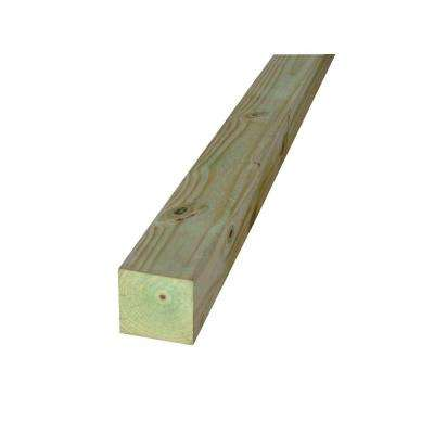4 in. x 4 in. x 6 ft. #2 Pine Pressure-Treated Lumber