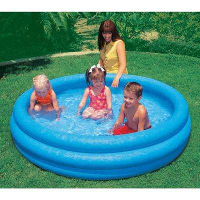 Crystal Blue Inflatable Pool Ring