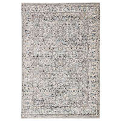 Alanah Power Loomed Gray/Blue 8 ft. 10 in. x 11 ft. 10 in. Oriental Area Rug