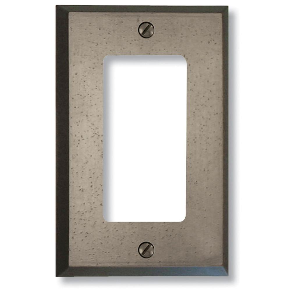Manhattan 1 Decora Wall Plate - Gun Metal Grey