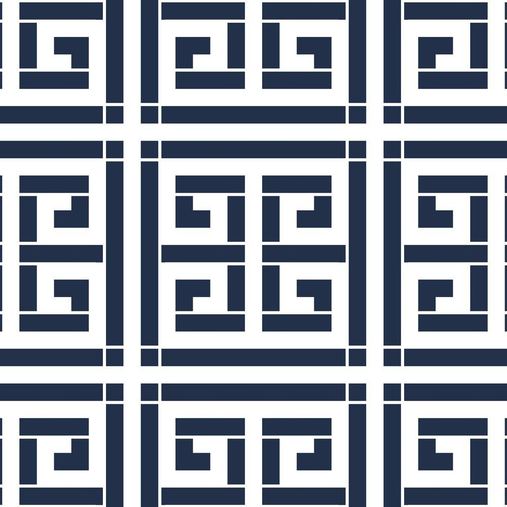 Stencil Ease 19.5 in. x 19.5 in. Crete Greek Key Wall Painting ...
