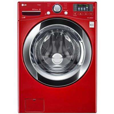 4.5 cu. ft. High Efficiency Front Load Washer with Steam in Red, ENERGY STAR