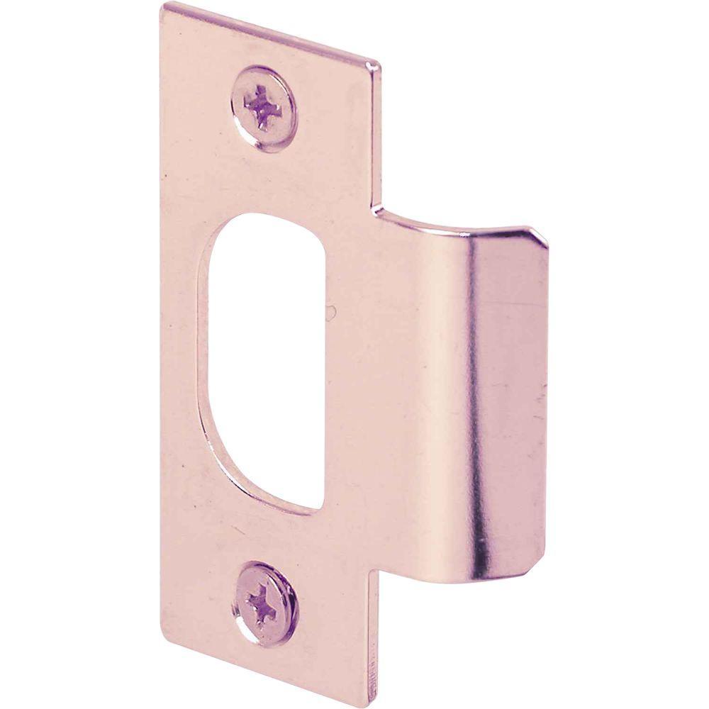 prime line bronze standard latch strike plates 2 pack e. Black Bedroom Furniture Sets. Home Design Ideas