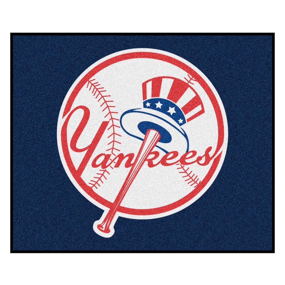 MLB - New York Yankees 5 ft. x 6 ft. Tailgater Mat Area Rug